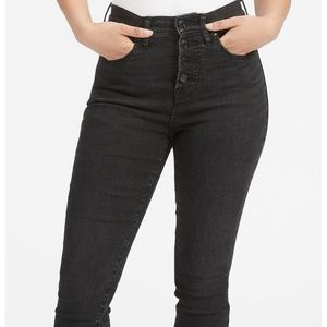Everlane stretch high rise button fly skinny 27R